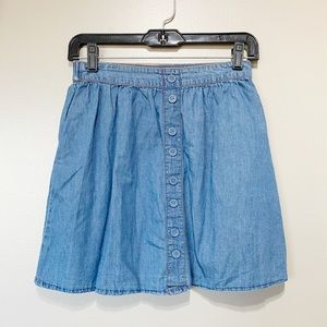 Mossimo Chambray Buttom Front Mini skirt
